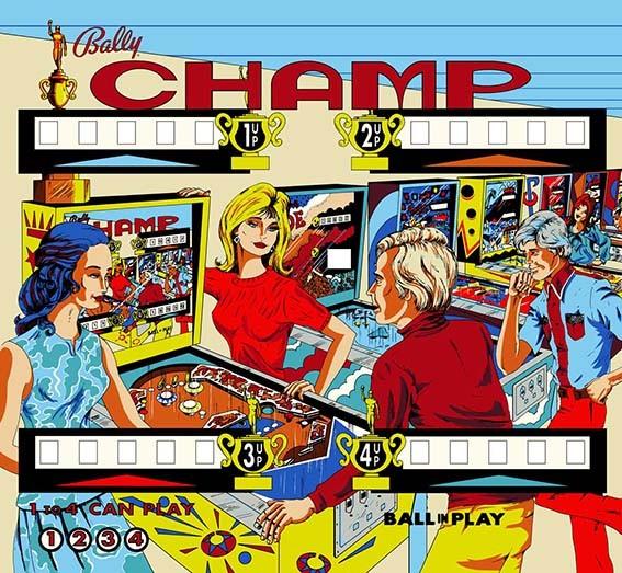 Bally Champ arcade game